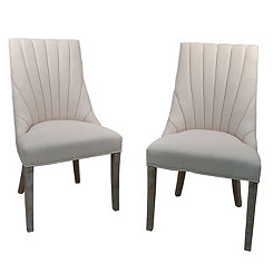 Corinna Cream Side Chairs, Set of 2