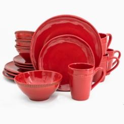 Red Abbey 16-pc. Dinnerware Set