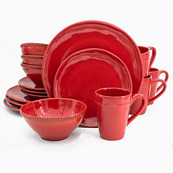 Red Abbey 16-pc. Dinnerware Set