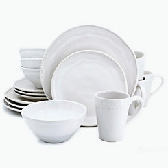 White Abbey 16-pc. Dinnerware Set