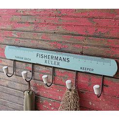 Wooden Fisherman's Ruler Coat Rack