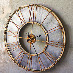 Cady Galvanized Rustic Metal Wall Clock