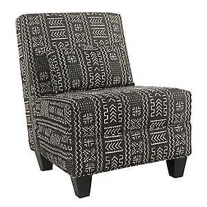 Global Black and White Slipper Chair