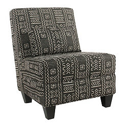 Global Black and White Slipper Chair