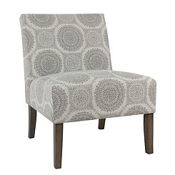Caty Gray Medallion Slipper Chair