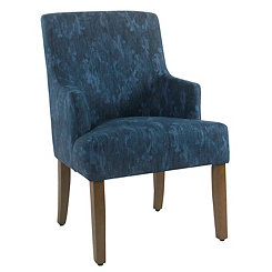 Marcella Indigo Patterned Dining Chair