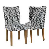 Indigo Diamond Parsons Chairs, Set of 2