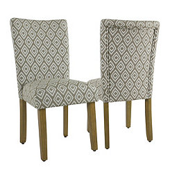 River Rock Brown Parsons Chairs, Set of 2