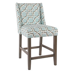 Aqua Lattice Counter Stool