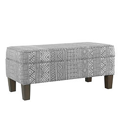 Gray and White Global Storage Bench