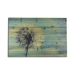 Dandelion Wood Art Print