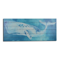 Pacific Whale Wood Art Print