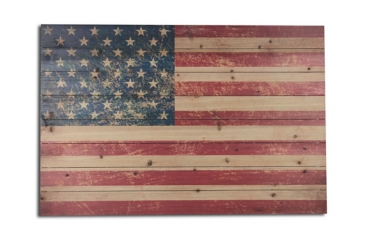 American Flag Wood Art Print