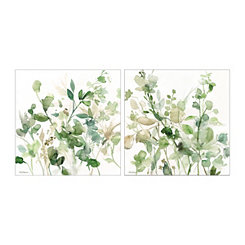 Sage Garden Canvas Art Prints, Set of 2