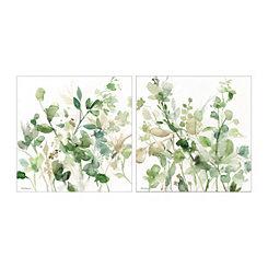 Sage Garden Canvas Art Prints, Set of 2
