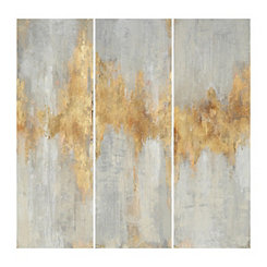 Fluent in Gold Canvas Art Prints, Set of 3