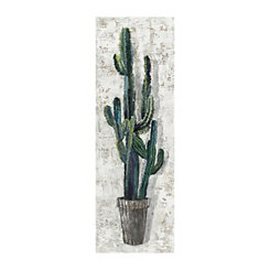 Saguaro Profile Canvas Art Print