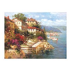 Mediterranean Villa Canvas Art Print