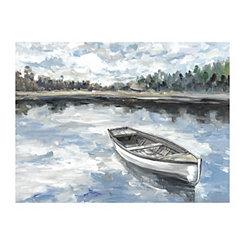Morning Lake Canvas Art Print