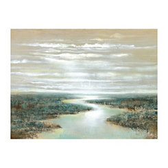 Silver Sunset Canvas Art Print