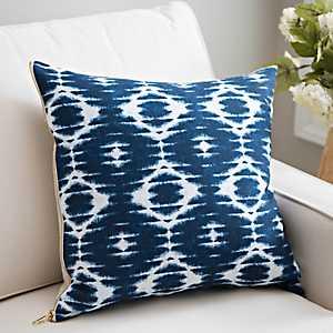 Navy Linen Tie Dye Pillow
