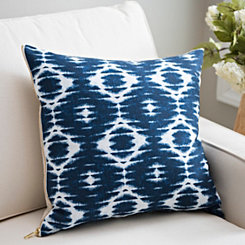 Navy Linen Shibori Pillow