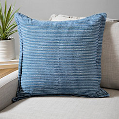 Blue Washed Texture Pillow