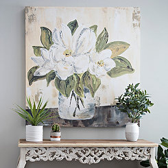 Magnolia Bloom Canvas Art Print