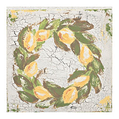 Lemon Wreath Canvas Art Print