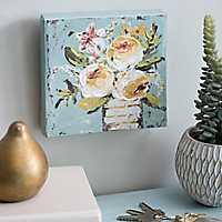 Floral Bouquet in White Vase Canvas Art Print