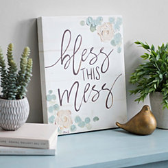 Bless this Mess Canvas Art Print