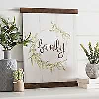 Family Wreath Hanging Canvas Art Print