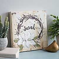 Saved Floral Crown of Thorns Canvas Art Print