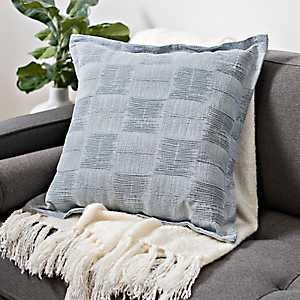 Gray Jacquard Flanged Edge Pillow