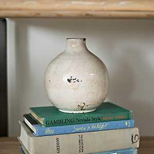 Ivory Embers Vase, 7 in.