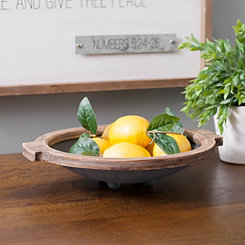 Black Rustic Metal Tray