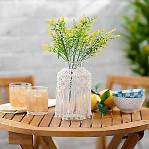 Macrame Glass Vase, 8 in.