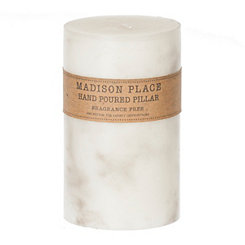 Marbled Pillar Candle, 4 in.