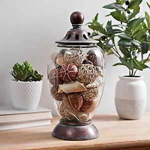 Bronzed Miya Potpourri Jar