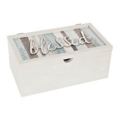 Blessed Sentiment Stripe Box