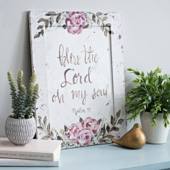 Bless the Lord Floral Framed Art Print
