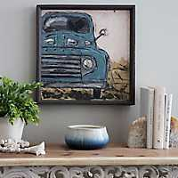 Vintage Blue Truck Framed Art Print