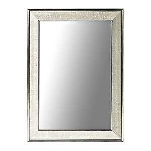 Silver Graphite Framed Wall Mirror, 24x36