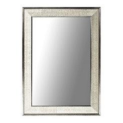 Silver Graphite Framed Wall Mirror, 24x36
