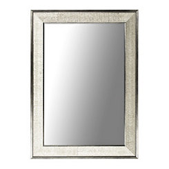 Silver Graphite Framed Wall Mirror, 37.3x47.3 in.