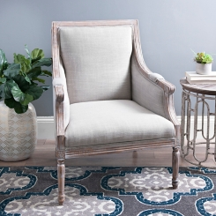 Katie Gray Linen Accent Chair