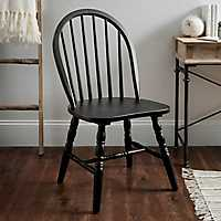 Black Wooden Spindle Chair