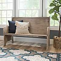 Natural Wood Pew Bench