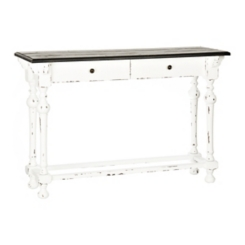 Abigail Black and White 2-Drawer Console Table