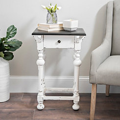 Abigail Black and White Accent Table